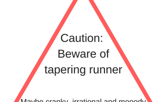 Beware of tapering runner